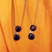 Pendant Necklaces Hip Hop Sunglasses Glasses Necklace For Men Women Titanium Steel Punk Party Jewelry Gift