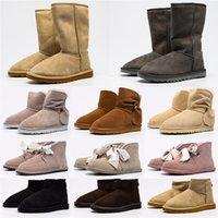2021 Tasarımcı Avustralya Klasik Temizle Mini Çizmeler Dune Toka Avustralya Wgg Kadınlar Bayan Kızlar Bayan Boot Snow Yarım Diz Kısa