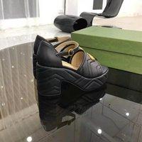 Luxury Designer Mary Jane Shoes Женские Летние толстые каблуки сандалии кожаные одноразовые пряжки водонепроницаемая платформа с толстыми содительницами в ретро мода мода ультра-высокий