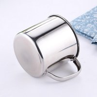 Cups & Saucers 8.5*7.8cm Steel Cup With A Cover Metal Gadget Silver Color Lid Drinkware Children Drinking A3O7