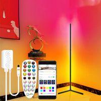 현대 LED 플로어 램프 RGB 앱 컨트롤 코너 빛 화려한 침실 식당 분위기 조명 클럽 홈 실내 장식 서 램프