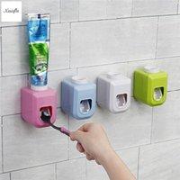 Комплект аксессуаров для ванн XUEQIN 4 Цвета Доступны автоматическая зубная паста Диспенсер Squeezer Настенное крепление Авто