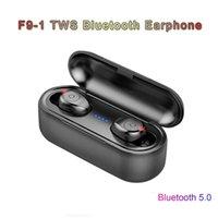 F9 Series TWS Ecouteur Bluetooth F9-1 5.0 Vrais Écouteurs sans fil Écouteurs imperméables Casque de chargement de 2000MAH Casque de chargement Stéréo HIFI Écouteurs intra-auriculaires avec microphone