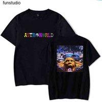 ASTROWORLD T-shirt Travis Scott T Gömlek Tee Kısa Kollu T-shirt Hip Hop Astroworld Siyah Tee T Gömlek Boyutu S-3XL