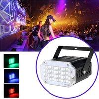 48 LED-lampor Mini Blinkande Disco LED Effekter Lampa RGB UV Vit Stråle Stage Lights Ljud aktiverat för DJ Partier Bröllop KTV Stroboscope