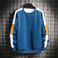 Men's Sweaters Sweatshirt Contrast Colors Elastic Cuff Skin-friendly Great Stitching Autumn Top Men For Daily Wear