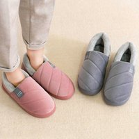 Winter Men House Indoor Warm Slippers Home Plush Cotton Shoes Soft Bedroom Slipper Men Footwear Thicken Male Unisex Slippers