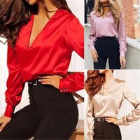 Женщины блузки базовые продажи твердого 2020 лет лето с длинным рукавом рубашка женские женские тонкие одежды плюс размер топы X0521