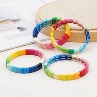 Braccialetto Shinus Boho per le donne arcobaleno perline braccialetti braccialetti colorati caramelle amicizia gioielli signore ragazza regalo pulseras charm