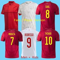 Top-Qualitätsfans und Spielfußball-Jersey 2021 2022 Spanien Rodrigo Paco Alcace L-shirt 20 21 Morata Ramos Salabianm Mann Kinder Kit Fußball T-Shirt