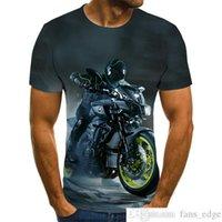 2021 Nueva camiseta gráfica de motocicleta Hombre hombre punk Tops de viento punk 3D Hombre Hombre Camiseta Moda de verano O-cuello Camisa más tamaño StreetwearSoccer Jersey