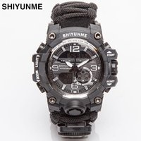 Wristwatches SHIYUNME Military Watch With Compass Waterproof Mens G Style Sports Men LED Digital Dual Display Watches Relogio Masculino