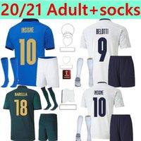 Italia Home Soccer Jerseys Barella Sensi Insigne 20 21 22 Copa europea Renacimiento Chiellini Italia Bernardeschi Camisas de fútbol Kit de niños Uniformes