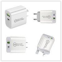 20W PD+USB QC3.0 Fast Charging AU UK US EU plug Charger USB Travel Portable Type-C Wall Phone Chargers for iPhone 12