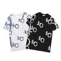 티셔츠 캐주얼 스타일 여성 남성 의류 폴리 에스터 소재 편지 패턴 짧은 소매 티셔츠 폴로스
