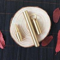 Ballpoint Pens Black Ink Explosion-proof Brass Handmade Signature Water Pen Neutral Retro Pure