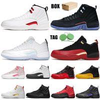 Nike Air Jordan Retro 12  jumpman 12 12s erkek yüksek basketbol ayakkabıları Üniversite Altın SatenÜrdünRetro taş mavi platformu erkek eğitmenler spor ayakkabı