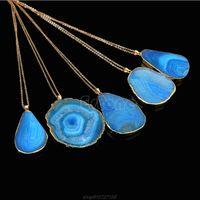 Натуральный кристалл кварцевой целебный точка Chakra Bead Gemstone ожерелье подвеска N18 20 капля ожерелья