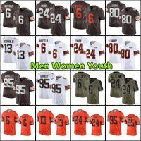 24 Nick Chubb Baker Mayfield Football Jersey Odell Beckham Jr. Jarvis Landry 95 Myles Garrett Jeremiah Owusu-Koramoah Newsome II Ward Brown Kareem Hunt Kosar