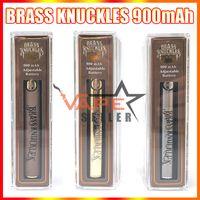 E Zigarette Messing Knöchel Batterie 900mAh Gold Holz Silber Wiederaufladbare VV Vorheizbatterien Vape Stift für 510 Fadenkartuschen