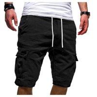 Pantalones cortos para hombres hombres verano casual talla grande herramientas deportes cordón de cordón bolsillo masculino de bain homme