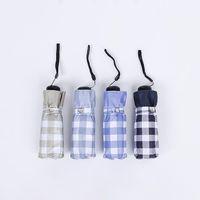 Umbrellas Pocket Umbrella Plaid Patten UV Folding Small Light Sun Plegable Regenschirm Sombrilla Bolsillo