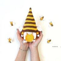 Party Saciosts Bee Festival вязаные плюшевые куклы украшения милые карликовые подсолнечники безликий эльф украшения 6 стилей FWD6052