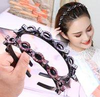 5 pcs headband twist plait clip front beleza ferramenta acessórios de cabelo duplo bangs penteado pulseira pulseira multi camada oca tecida