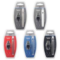 예열 배터리 바닥 트위스트 수동 Evod 예열 VV 350mAh 510 스레드 배터리 물집 키트 CE3 두꺼운 오일 카트리지 DHL 용 USB 충전기