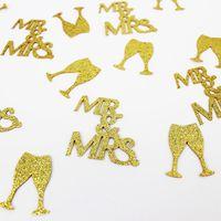 Mr&Mrs Confetti Glitter Bridegroom Bride Wedding Decoration Table Bachelorette Party Throw Diamond Ring Gift