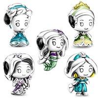 925 Sterling Silver Princess Series Perline adatto per Bracciali Pandora Orginali Collana Charms Donne Gioielli regalo