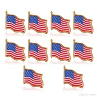 미국 국기 옷깃 핀 미국 미국 모자 타이 압정 배지 핀 미니 브로치 옷 가방 장식