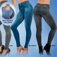 Women's Leggings Women Push Up Seamless High Waist Warm Jeans Autumn Winter Elastic Jeggings Denim Pants Leggins Sexy Club Streetwear