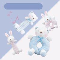 Newborn cartoon baby boy girl rattles infantil animal mano campana niño felpa juguete desarrollo regalos niños juguetes de bebé 0-12 meses 903 x2