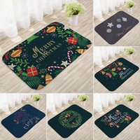 Christmas Door Mat Santa Claus Flannel Outdoor Carpet Marry christmas Decorations For Home Xmas Ornament Decor Gifts New Year 60x40cm 23.62x15.74inch 2022 DHL