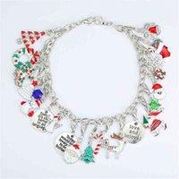 Chirstmas Kinder Perlen Armband Geschenkbox Set DIY Mode Mädchen Schmuck Kinder Bunte Santa Weihnachtsbaum Hand Dekoration Geschenkanzug H8114BU