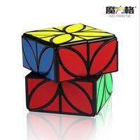 QIYI 클로버 매직 스피드 큐브 퍼즐 플러스 버전 4 잎 클로버 큐브 이상한 모양 마술 속도 큐브 퍼즐 장난감 어린이를위한 아이들