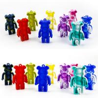 Push Poppers силиконовые головоломки медведь красочные POO его игрушки Tiktok Go Bang Fidge Toy Sensosy Squishies ключевые цепи H4142XW