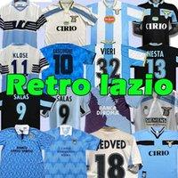 LAZIO RETRO 1989 1990 1991 1992 1999 2000 2001 Soccer Jerseys Nedved Simeone Salas Gascoigne Home Away Football Hemd Veron Crespo Nesta 89 90 91 92 93 98 99 00 100. Top