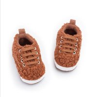 First Walkers Winter Baby Shoes Born Infant Boys Girls Toddler Soft Warm Fleece Moccasins