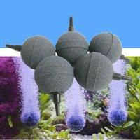 Воздушные насосы аксессуары 1 шт. 2 см / 3см / 4 см / 5см аквариум пузырька камень аэратор рыбный танковый насос гидропонные кислородные пластины круглые камни Mini Acuario A