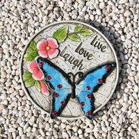 Bahçe Süslemeleri Açık Hoş Geldiniz Stepting Taşlar Yaratıcı Ayak Pedalı Havacılık Süsleri Avlu Çimen Layout Dekorasyon için REME889