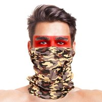 Neck Cycling Caps & Masks 5Pcs Gaiters Bandana Riding Camping Scarf Outdoor Sports Camouflage Anti UV Dust Proof Face Cover Gaiter Scarf1