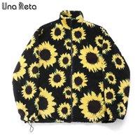 Una Reta Print Мужская куртка Зимнее пальто Одежда LAMBSWOOL молния Parkas Plus Размер черный