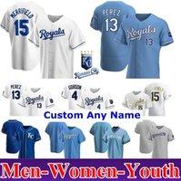 2021 Kansas City Homens Mulheres Juventude Juventude Jerseys Royals Jorge Soler Whit Merrifield Jackson Danny Duffy Nicky Lopez Ryan Ian Kennedy Keller Urena
