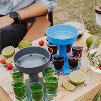 6 Shot Glass Dispenser Holder Wine Glass Whisky Beer Dispenser Rack Bar Cup Caddy Liquor Dispenser Party Games Drinking Tools 1870 V2
