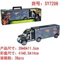 Diecast Dinosaure Toy Set Traactor Conteneur de conteneurs coulissants pour stocker une petite voiture de conteneur de dinosaure