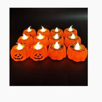 Halloween Ghost Festival Pumpkin Decoration Props LED Electronic Candle Party Supplies Glowing Night Lights W237
