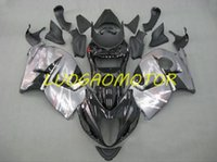 Kit de carénage personnalisé pour la carrosserie d'injection pour Suzuki Hayabus GSXR1300 GSXR 1300 1996-1997-1998-1999-1997-1001-2002-2003-2004-2005-2006-2007 Silver bien Kits de carénage noir