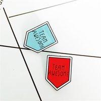 Team Awesome Email Broschen Pin für Frauen Mode Kleid Mantel Hemd Demin Metall Brosche Pins Abzeichen Promotion Geschenk 2021 Neues Design 943 T2